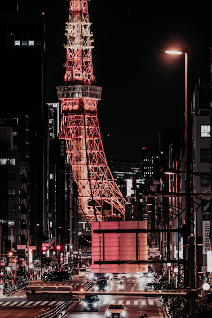 東京タワー,夜景,札の辻