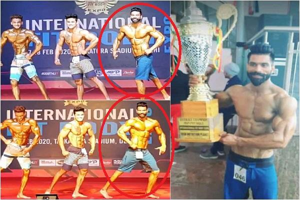 faridabad-bodybuilder-anuj-nagar-win-gold-delhi-fit-expo-2020-news