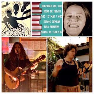 Programação para homenagear o Dia Internacional da Mulher: roda de conversa, oficina e apresentação musical e de poesia.