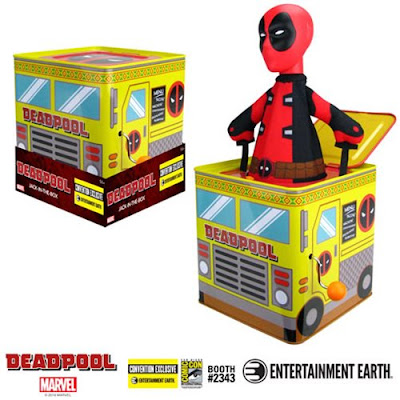 San Diego Comic-Con 2019 Exclusive Deadpool Jack-in-the-Box by Entertainment Earth x Marvel Comics