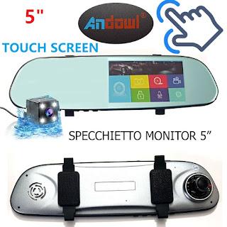 specchietto retrovisore monitor touch