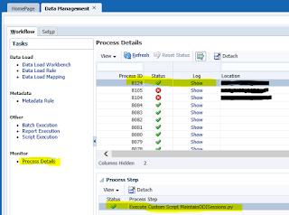 Automation of 'Maintain ODI Session Data' System Maintenance Task
