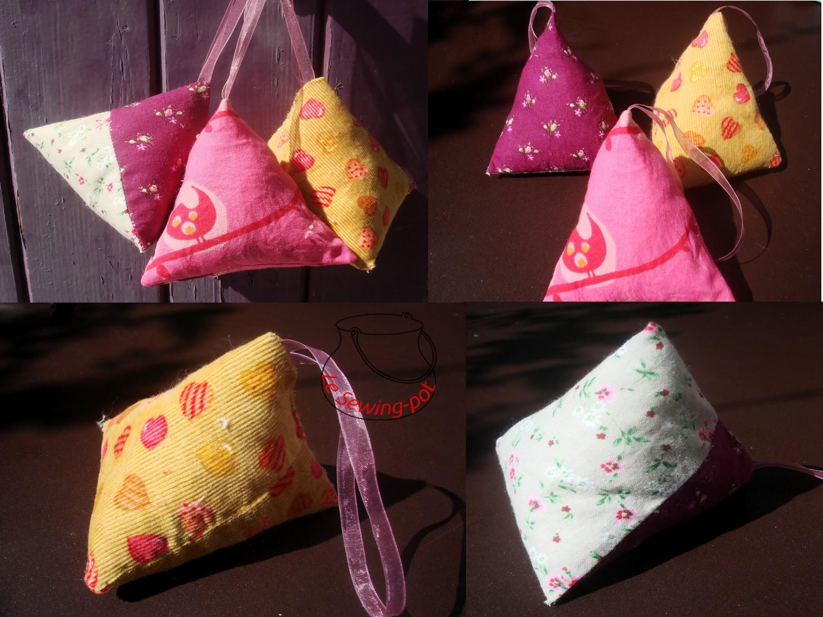 le sewing pot sachets de lavande s ch e n 2 dried lavender sachets 2. Black Bedroom Furniture Sets. Home Design Ideas