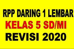 RPP 1 LEMBAR KELAS 5 TEMA 5 REVISI 2020 - RPP DARING