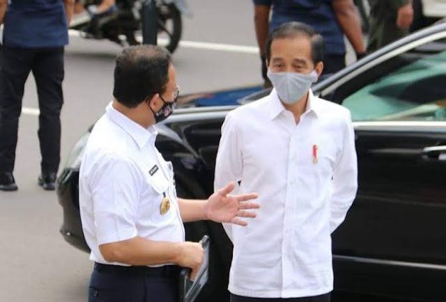 Sepertinya Jokowi dan Anies Mulai Kompak Tangani Covid-19, Ini Indikasinya