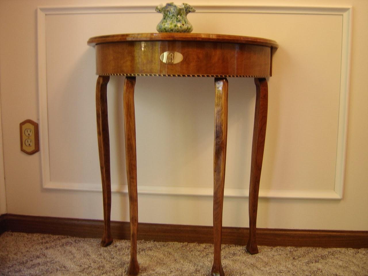 Handmade Furniture With Care Demi Luna Small Half Round Table