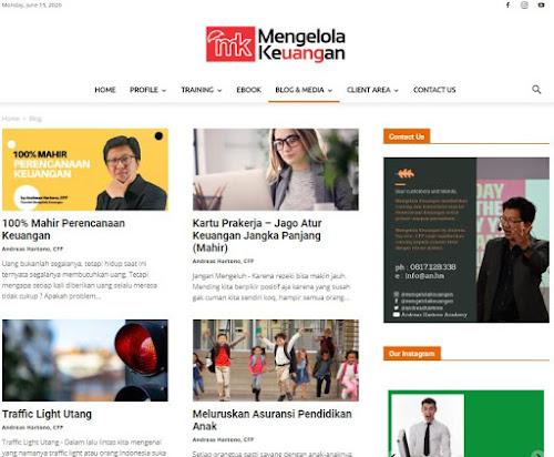 Blog atau website tentang keuangan