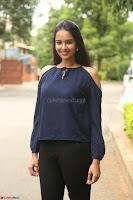 Poojita Super Cute Smile in Blue Top black Trousers at Darsakudu press meet ~ Celebrities Galleries 031.JPG