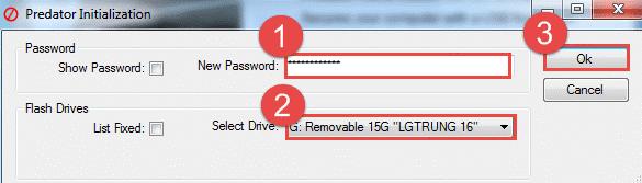 nhập vào mật khẩu muốn tạo trong ô New Password
