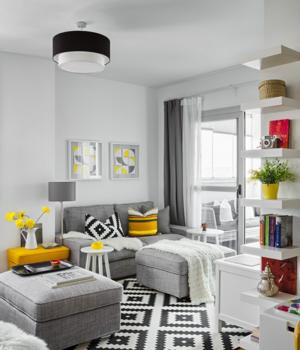 Un piso decorado con productos ikea house decorated - Casas decoradas ikea ...