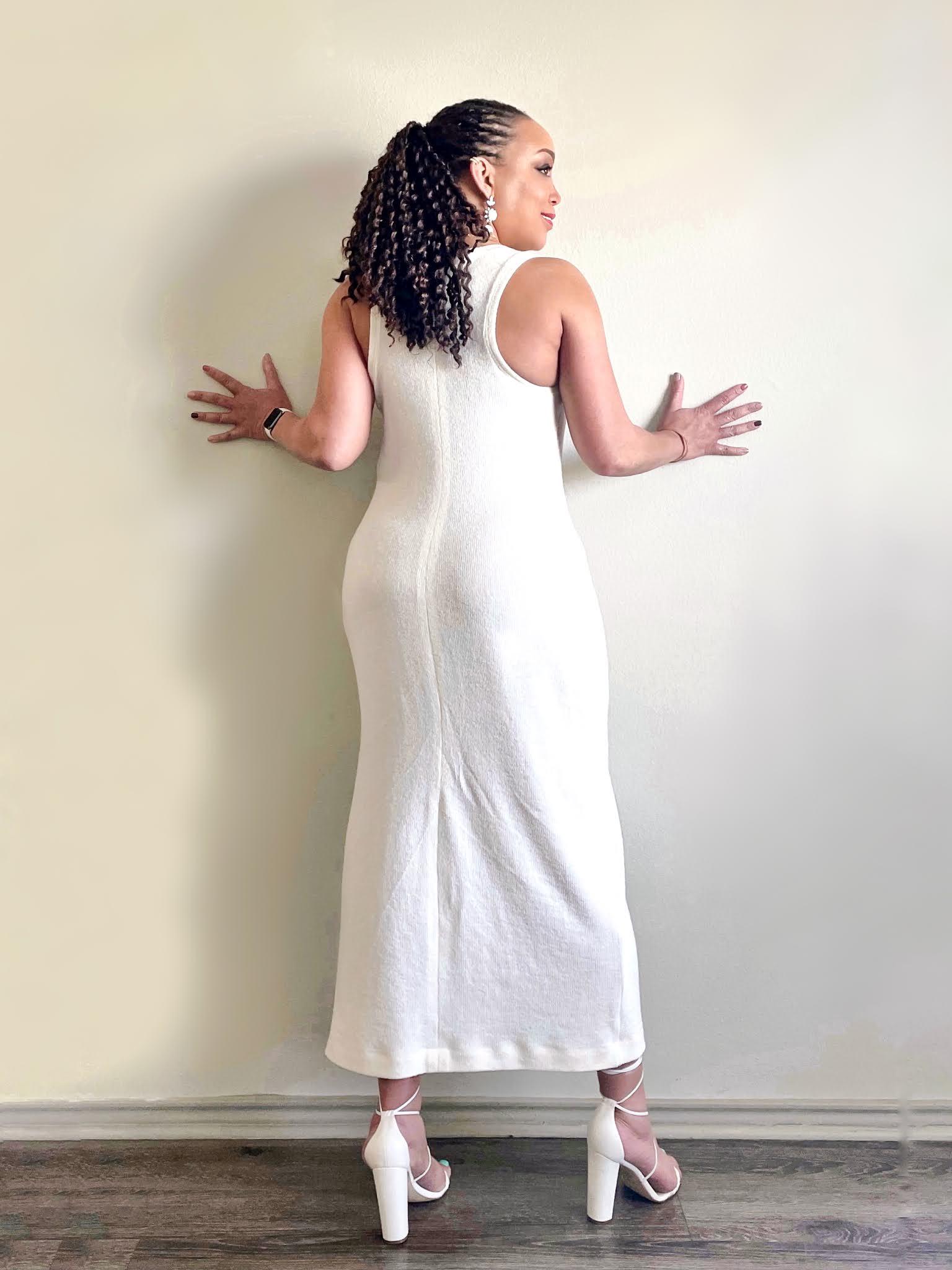New Look 6210 - Rib Knit Maxi Dress - Erica Bunker DIY Style x Zelouf Fabrics