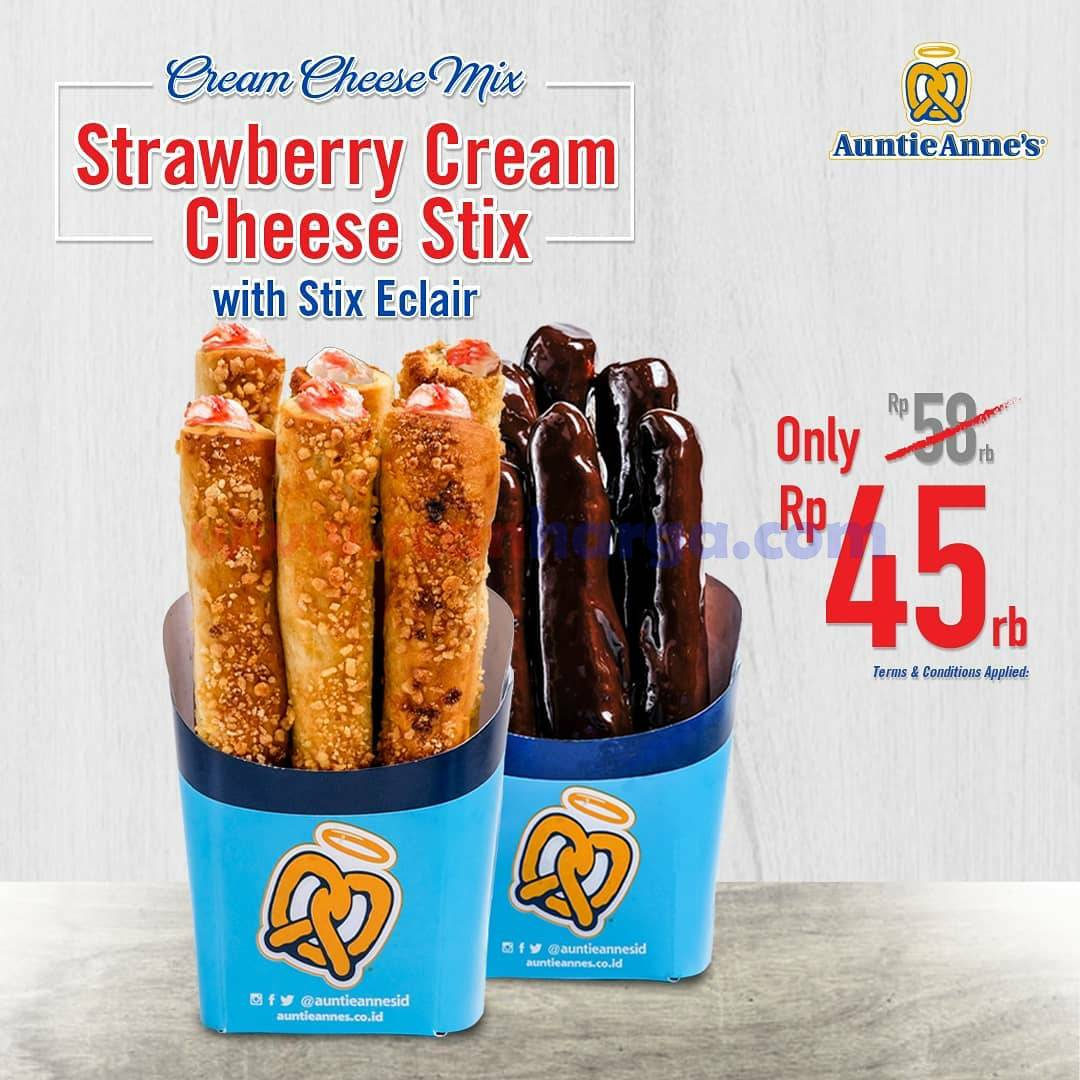 Auntie Anne's Promo Cream Cheese Party harga mulai Rp 45.000