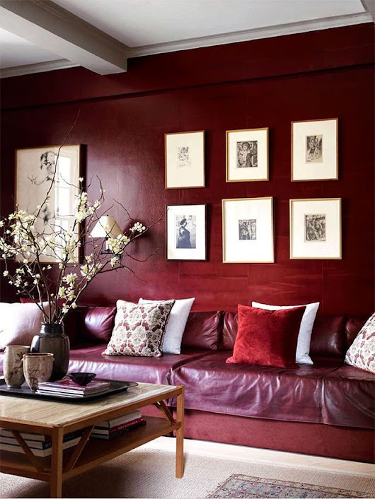 Jewel Hue Marsala - A Tint of Red at Home