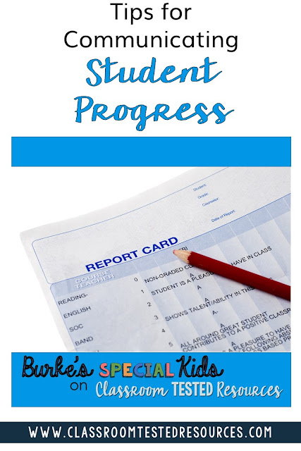 Tips for Communicating Student Progress. Every teacher knows that effective parent communication is a key to classroom success.  Effective progress reporting sets the stage for home support and student achievement. Check out this post for tips on communicating student progress.