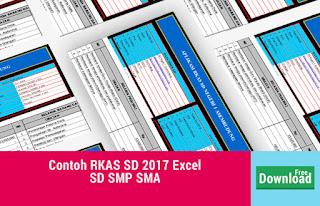 Contoh RKAS SD 2017 Excel untuk SD SMP SMA