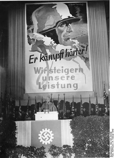 Labor leader Robert Ley, 6 February 1942, worldwartwo.filminspector.com