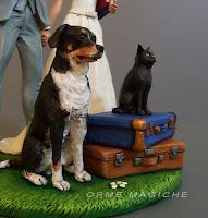 top cake topper animali domestici cane gatto sposi torta matrimonio milano orme magiche