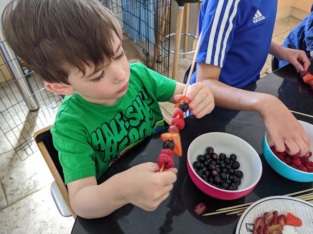 Making fruit sticks