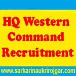 HQ Western Command Jobs