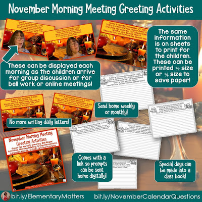 https://www.teacherspayteachers.com/Product/November-Morning-Meeting-Greeting-Activities-4111596?utm_source=blog%20post&utm_campaign=Nov%20calendar%20questions