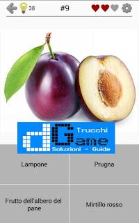 Soluzioni Frutti, verdure e noce livello 9