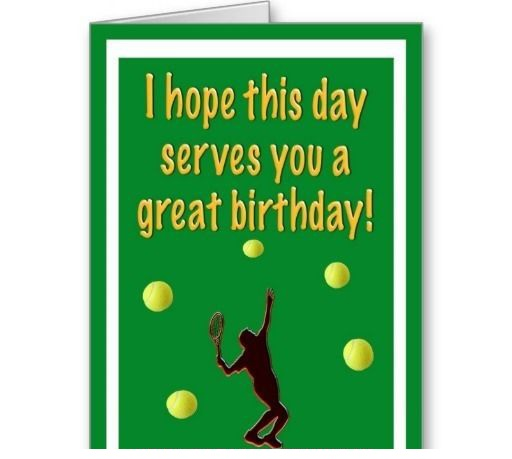 Birthday Wishes for Tennis Player