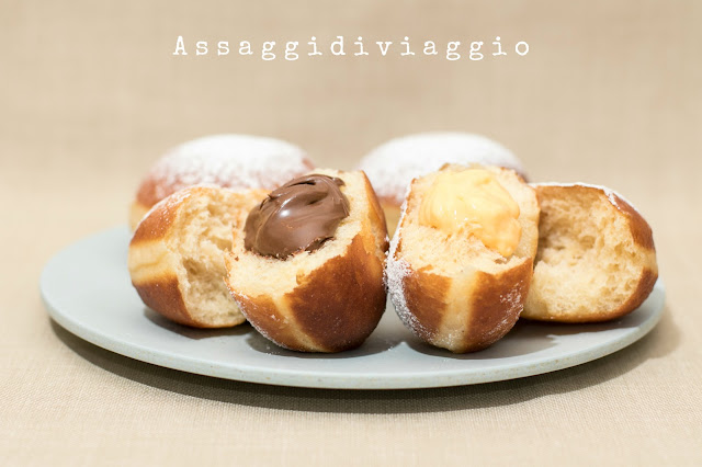 Krapfen di Massari e Crema spalmabile al cioccolato di Di Carlo