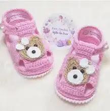 Zapatos de Bebé Ositos a Crochet