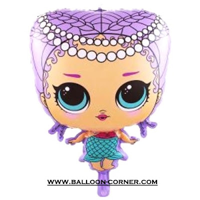 Balon Foil Boneka LOL Surprise Mermaid