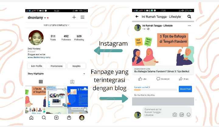 Instagram dan fanpage