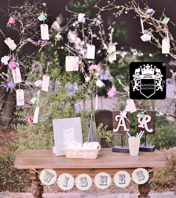 Tarjetas para bodas - Pared decorada con fotos ...