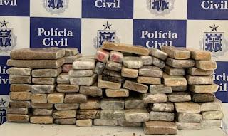 Policiais civis apreendem 90 quilos de maconha em Jequié