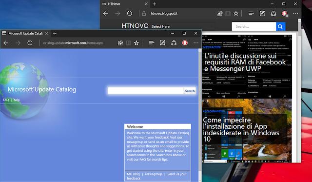 Come installare manualmente gli Aggiornamenti di Windows 10 2 HTNovo Pagina Microsoft Update Catalog
