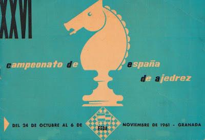 Portada del folleto del XXVI Campeonato de España Individual 1961