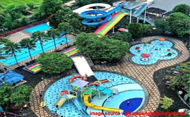 Review Kolam Renang Tektona Waterpark Kampung Batu Bandung