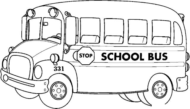 Gambar Mewarnai Bus Sekolah - 2