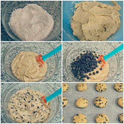 Paso a paso receta cookies con chocolate