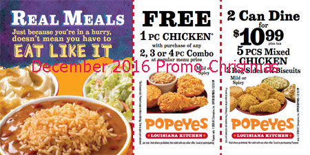 graphic about Popeye Coupons Printable identify Popeyes discount codes on the internet 2019