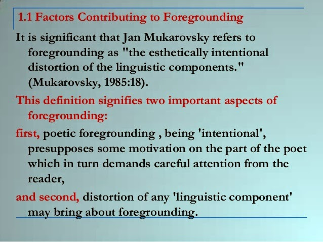 FOREGROUNDING IN POETRY DOWNLOAD