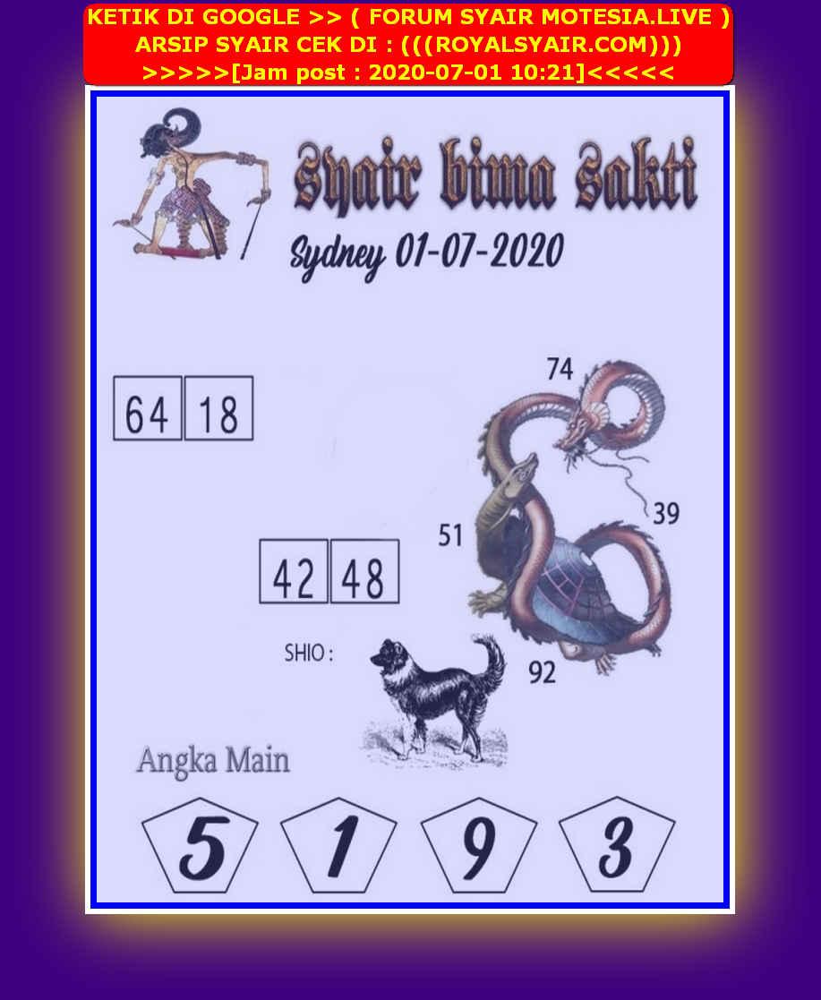 Kode syair Sydney Rabu 1 Juli 2020 128