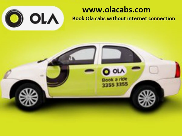 Book Ola Cab Aggregator Offline Internet Feature Option www.olacabs.com
