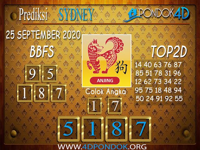 Prediksi Togel SYDNEY PONDOK4D 25 SEPTEMBER 2020
