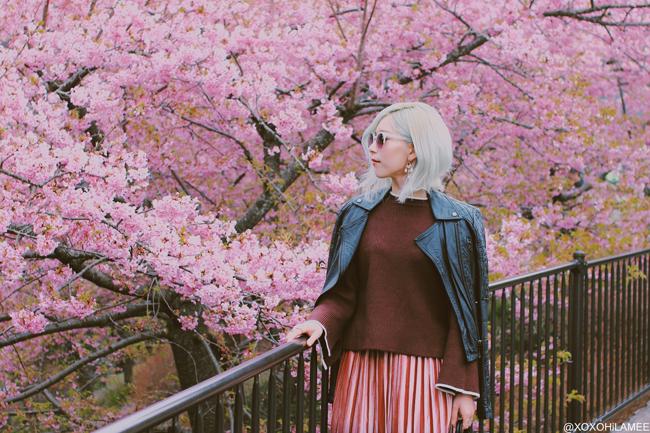 Japanese Fashoin Blogger,MizuhoK,20190302, TOPSHOP=biker jacket, Rosegal=knit, CHICWISH=skirt, ZARA=OXFORDS, LOUIS VUITTON=backpack, zeroUV=sunglasses