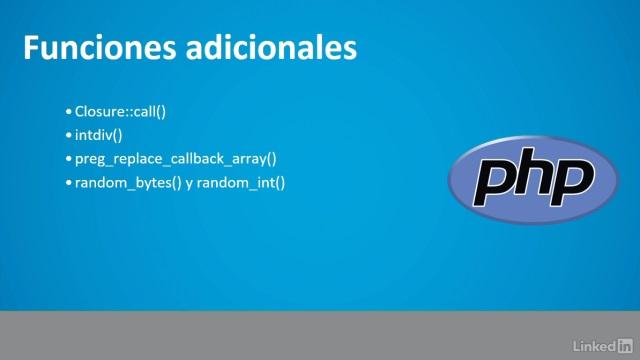 Novedades PHP 7 curso 1