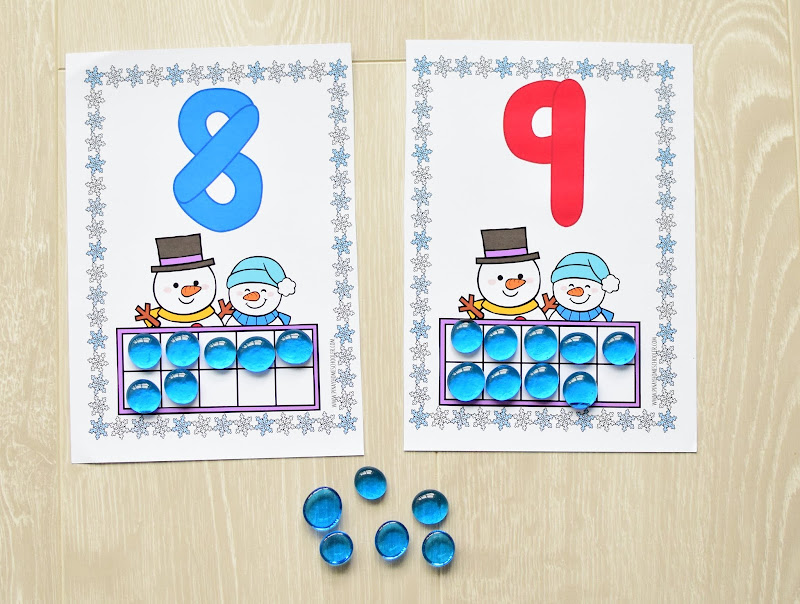 Winter Theme Learning Pack: Counting Ten Frames