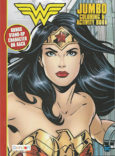 Front cover of Wonder Woman Jumbo Coloring & Activity Book 2020