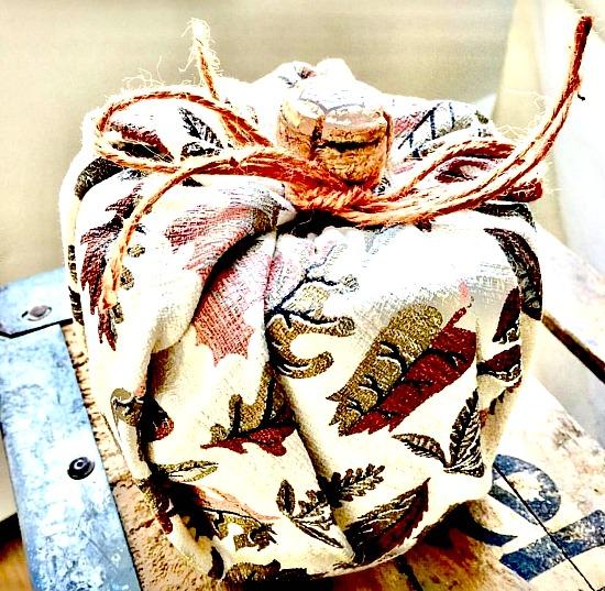 bark cloth pumpkin toilet paper cover.