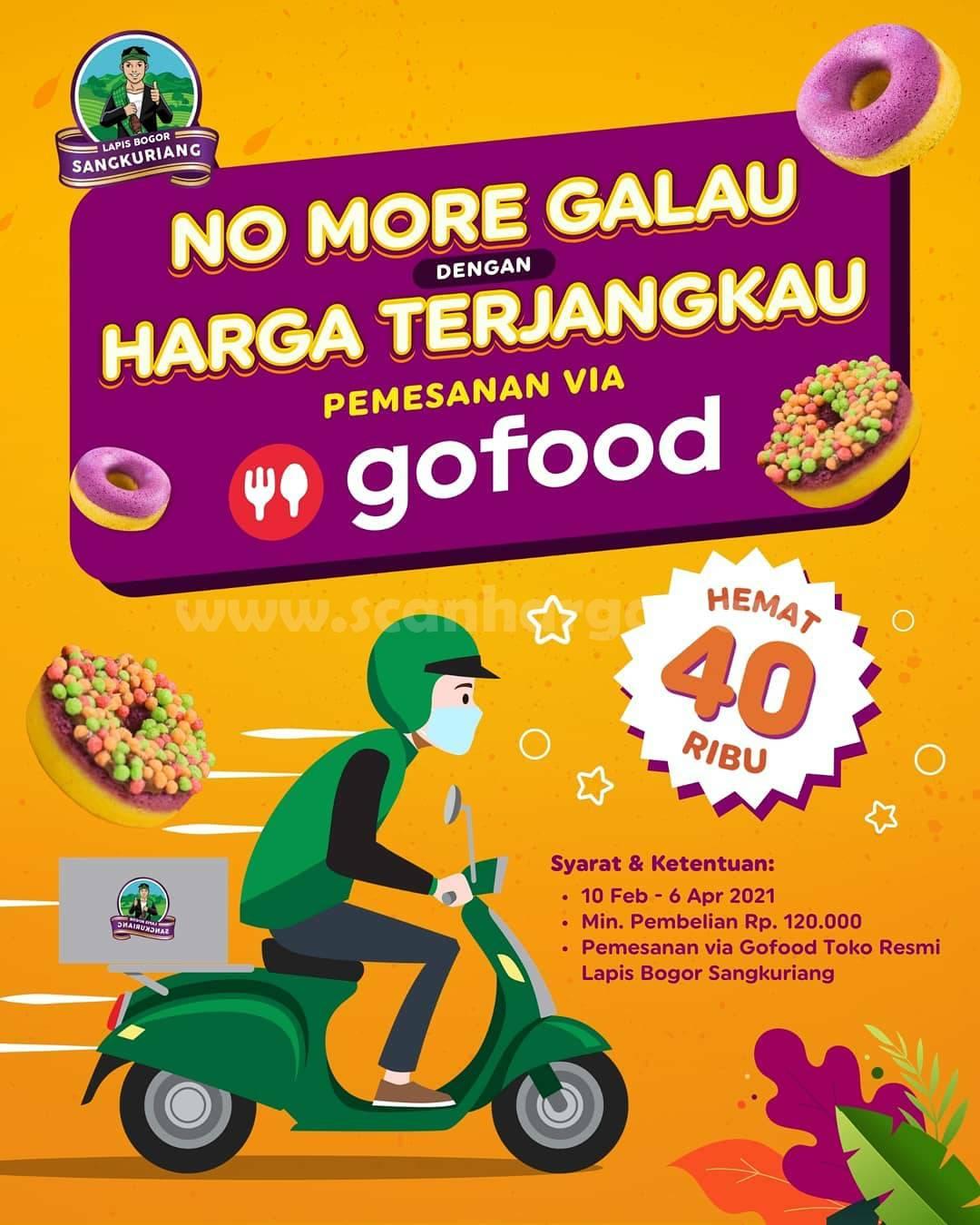 Lapis Bogor Sangkuriang Promo GOFOOD! Hemat Hingga Rp 40.000
