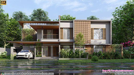 Tropical 8K rendered home design