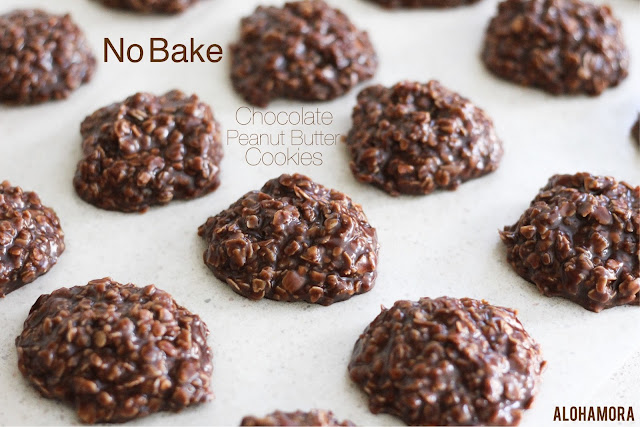 No Bake Chocolate Peanut Butter Cookies. Gluten Free. Easy and quick to make.  Not too sweet. So delicious!  easy to make. kid friendly. cookies, dessert. Fun. Alohamora Open a Book, alohamoraopenabook www.alohamoraopenabook.blogspot.com
